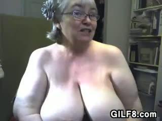 store bryster alle, kvalitet webcam ekte, ideell bestemor