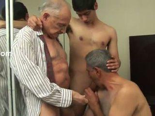 gay, gammal, anal