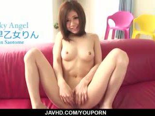 Harsh gangbang for young Japanese Rin Saotome