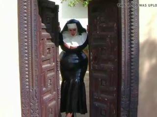 Busty Latex Nun: Free European Porn Video 8e