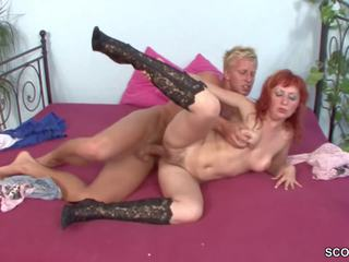 Hairy Step-mom Seduce Young Boy to Fuck Her When Home