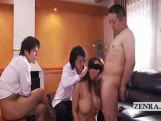 Subtitled Blindfolded Japanese Wife Salacious Group Sex