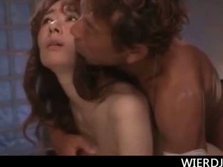 Seductive Japanese mom fucked doggy style in her cravin