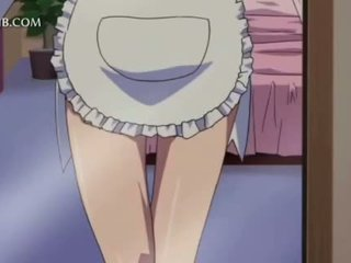 Teen hentai maid gets hot boobs and cunt teased