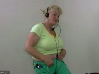 巨乳, bbw, おばあちゃん, マスターベーション