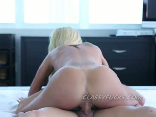 Cute blonde pussy licked and cock ride on artistic camera lens