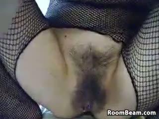 webcam, solo, masturbation, hairy