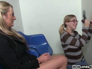 Mom Sindy Lange and Penny Pax at the BBC Glory Hole.