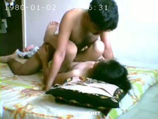 Hot couple having sex in bedroom