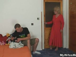 Mother-in-law fucks her son in law