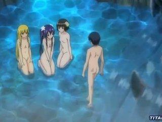 A nasty orgy at a hidden lagoon