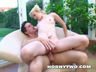 Fucking for Facial this Cute Blonde Skinny Teen gets.