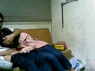 Coreana chica follando en habitación después escuela