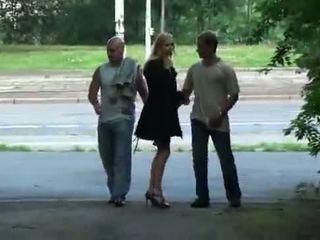 Julie silver 和 她的 三人行 性別 在 一 park