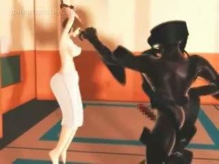 Hentai Karate Girl Fights And Fucks Monsters Big Cock