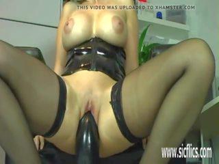 Gigantic Dildo Fucking Mature Amateur Slut: Free Porn f3