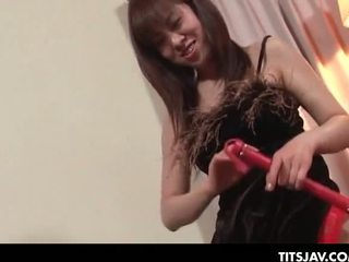 Asian tramp playing the seductress in an erotic sex gam