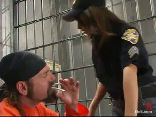 Sleaze поліція офіцер gia jordan dominated і зроблений любов в the сідниці hole по inmate