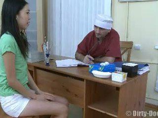 vagina, orvos, kórház, ázsiai