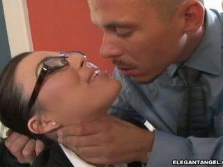 glasses, hot office sex, most uniform