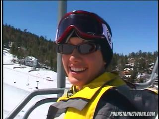 Taylor ulan relaxes after ilan skiing