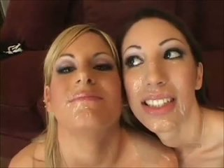 FACES OF CUM : Courtney Simpson and Chloe Mor