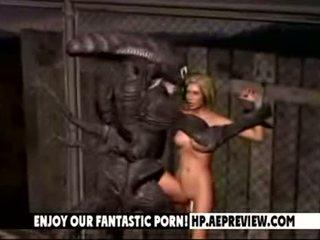 Aliens Fuck Beauty dolls 3D