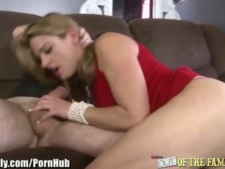 MILF gets Facial from Son-in-law