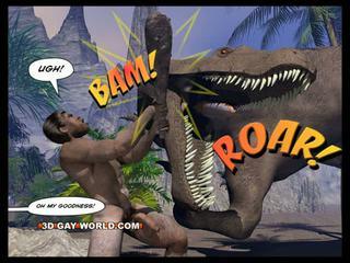 Cretaceous bite 3d gay bd sci-fi sexe histoire
