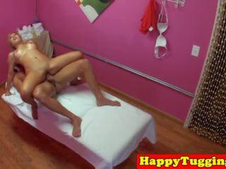Oriental Masseuse Caught Wanking Client, Porn 49