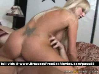 Mature naked blonde wife in bed gets a blowjob