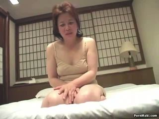 Asian Granny Inserts a Vibrator in Her Pussy: Free Porn a4
