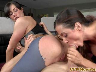 CFNM Yoga Babes Submit Peeping Tom into Trio: Free Porn ec