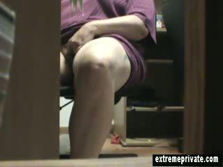 bbw, voyeur, fingering, masturbation