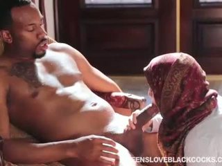 Nadia Ali fucked by huge black schlong