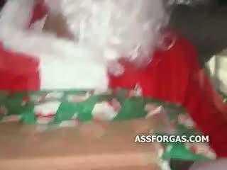Tall Skinny Wannabe Pornstar Sucks Santa