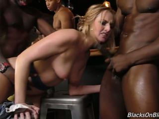Bar Girl Kate England Offer all Three Holes to Black.