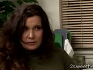 brunette check, babe, lesbian