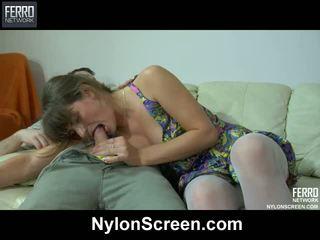 辣妹, 尼龍戀物癖, nylon porn movies