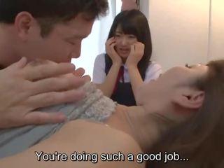 Subtitled jav insane mati gives hči seks ed lesson