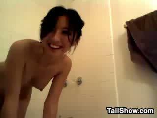 Sweet Asian Slut In The Bathroom