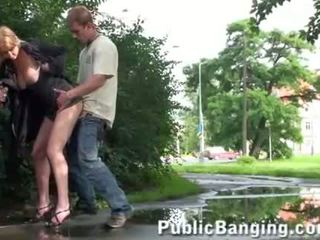 Gorgeous girl public sex group street fucking 2