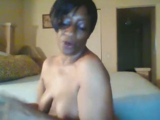 58 year old southern ebony granny gets freaky on Live Cam