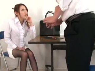 Cute Teacher Masturbation and Footjob, Porn d1