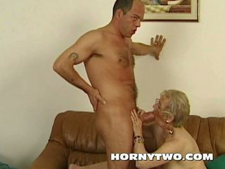 Wet Chubby Granny Old Pussy Fucking Younger Lad Happy