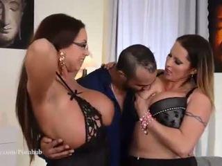 Ultra Big Titty European Milfs in Hardcore Threesome