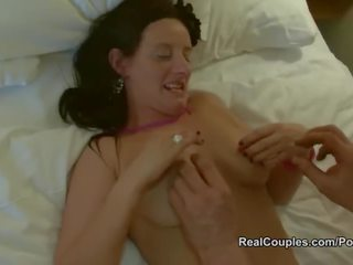 online brunette fun, pussy licking rated, british