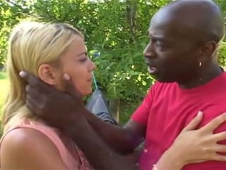 Anna The Nice Blonde Has Shaged By White And African Guys