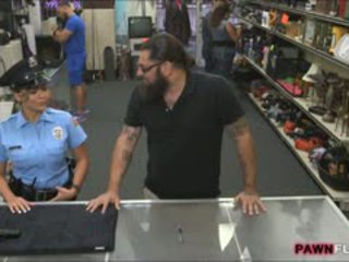 Busty Security Officer Nailed By Pawnkeeper In The Backroom