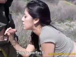 Latina kimberly gates banged podle border patrol důstojník